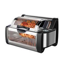 NUTRICHEF PKRTVG65BK Digital Countertop Rotisserie & Grill Oven, Rotating Cooker