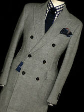 BNWT LUXURY MENS HACKETT LONDON HEAVY TWEED PEACOAT JACKET COAT OVERCOAT 44R