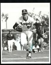 WALLY JOYNER Signed Vintage 8x10 black & white Photo CALIFORNIA ANGELS JSA