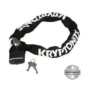 KRYPTONITE HIGH SECURITY MOTORBIKE SCOOTER KEEPER 1010 CHAIN & ARMOURED PADLOCK