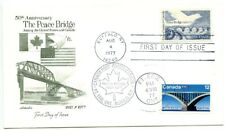 1977 FDC,USA/CANADA JOINT ISSUE,DUAL CANCELS