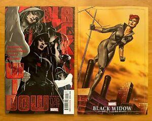 BLACK WIDOW 12 2021 Hughes Main Cover + Jusko Masterpieces Variant  Marvel NM