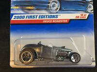 Hot Wheels 2000 First Editions 'Deuce Roadster #6 Silver Brand New Mint 1:64