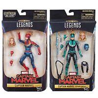 Marvel Legends Captain Marvel Action Figure The Avengers Cos Model Toys 6''