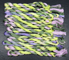 12x Needlepoint/Embroidery Thread Hand-dyed Cotton Floss-lilacs&grass-Tx 14