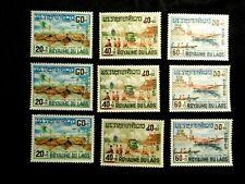 Dealer Lot of (3) Laos Stamp Set Scott B6-B8 Mnh