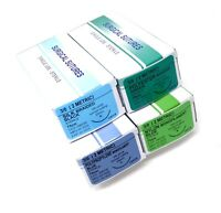 48/pack 3/0 Surgical Sutures Silk Nylon Polyester Polypropylene Braided sterile