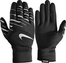Nike Dri-Fit Tempo 360 Flash Guantes Correr Sz S Small Negro Plateado
