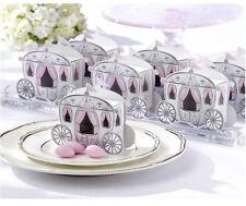 100 Cinderella Wedding Bomboniere Favour Gift Box White