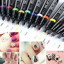 Pro 24 Pcs Color Nail Art Pen Painting Design Tool Drawing for UV Gel Polish Set
