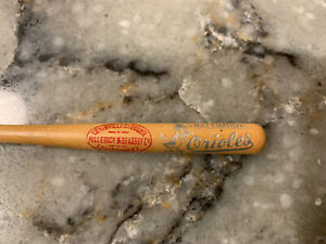 "Vintage 1950s Baltimore Orioles Louisville Slugger 4.5"" MINI BASEBALL BAT MLB"
