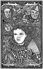 THE WIZARD OF OZ MOVIE Hand Signed Letterpress Graffiti Adult Coloring Book Art