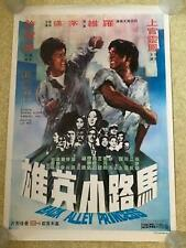BACK ALLEY PRINCESS  original Chinese film poster 1973  martial arts