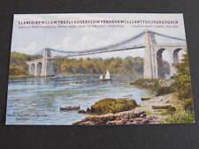 Menai Suspension Bridge Bangor Wales Postcard