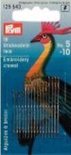 Prym Agujas de Lana para Bordar, Núm 5-10, Surtidos, Color Plata / Oro 125543