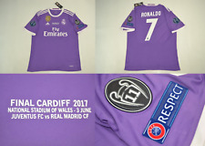 real madrid jersey shirt 2017 ucl final cristiano ronaldo CR7 r.madrid purple