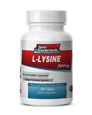 L-Lysine Amino Acid 500mg (1 Bottle, 100 Tablets)