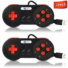 2 Pack SNES Retro USB Super SNES Controller Gamepad for PC & MAC Raspberry Pi
