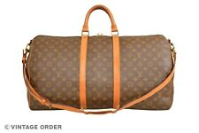 Louis Vuitton Monogram Keepall 55 Bandouliere Travel Bag Strap M41414 - YG01040