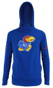 adidas NCAA Women's Kansas Jayhawks Climawarm Team Fleece Hoodie, Blue