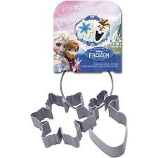 Frozen - Olaf And Snowflake Cookie Cutter Set - New & Official Disney