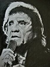 More details for johnny cash, the man in black , pencil sketch