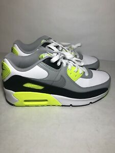 Nike Air Max 90 LTR (GS) Shoes Size 6Y White/ Gray Style CD6864 101