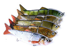 Lot 5pcs 12cm/16.8g Multi Jointed Fishing Lures Bass Crankbaits for Muskie Pike