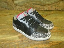 2008 Nike Air Jordan 1 Low OG SZ 9 Black Cement Grey 3 Fire Red SB 350571-061