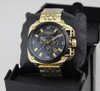 NEW AUTHENTIC DIESEL BAMF CHRONOGRAPH GOLD BLACK MEN'S DZ7378 WATCH
