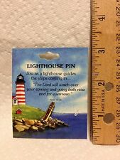 Lighthouse Pin gift keepsake with Psalm 121:8 verse  on card  #6