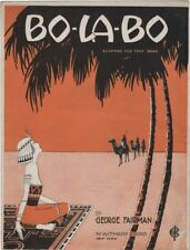 Bo-La-Bo    Egyptian Theme cover art, 1919, vintage sheet music