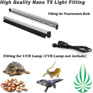 Reptile T5 UVB Light Fixture Fitting Fit Global 2FT 24W UVB Fluorescent Lamp