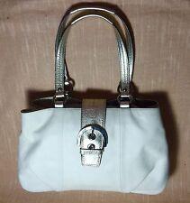 COACH F 18751 Soho East West Cream Leather Shoulder Bag Tote Purse Handbag