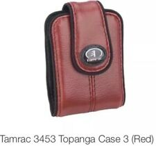 Tamrac  3453 Topanga Leather Case 3 (Red) FOR ULTRA COMPACT CAMERA