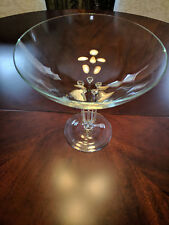 Rosenthal Olympus bowl, tall on 5 delicate glass legs