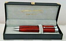 PIERRE CARDIN Vintage Woodgrain Pen and Pencil Gift Set - NEW