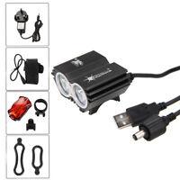 SolarStorm 6000LM 2x XM-L2 USB LED Head Front Bicycle Bike light Headlight 18650