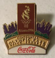 1996 Coca Cola Atlanta Olympics Centennial Olympic Park Brick Program Lapel Pin