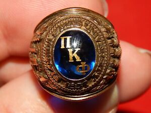 10K YELLOW GOLD MENS FLORIDA STATE SEMINOLES BA COLLEGE FRATERNITY CLASS RING