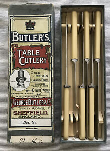 Collectable Antique Vintage Butler's Table Cutlery x 6 Non-stain Table Knives