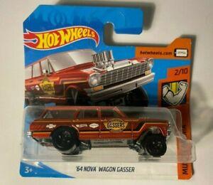 Hotwheels Red 64 Nova Wagon Gasser - 2/10 Muscle Mania