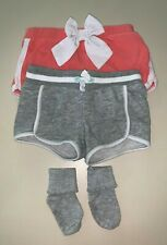 Shorts for girls (2 pairs) and 1 pair of socks 3-4T