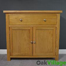 Oak Sideboard Small Mini / Oak Cupboard / Solid Wood / Storage Dresser Oakley