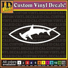 "7"" HAMMERHEAD Shark Great White thresher fishing car window vinyl decal Sticker"