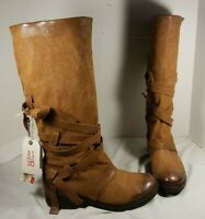 NEW AS 98 GEORGIA ZING BROWN LEATHER TALL BOOTS US 8 EUR 39