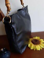 GUCCI Vintage originale - Rara borsa Gucci Bamboo handbag bag leather black lady