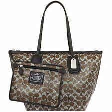 Coach Bag F33504 Signature Coated Taxi Zip Top Tote With Pouch Agsbeagle COD