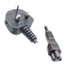 Laptop Charger Power Lead / Cable, UK mains plug to C5 Clover-leaf socket, 5M