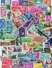 LOT OF 100 VINTAGE ALL DIFFERENT MINT U.S. POSTAGE STAMPS-ALL MINT ORIGINAL GUM